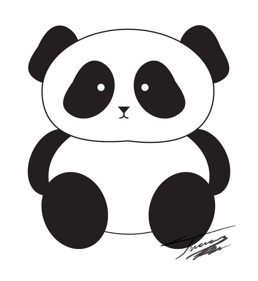 Cute Baby Panda Clip Art
