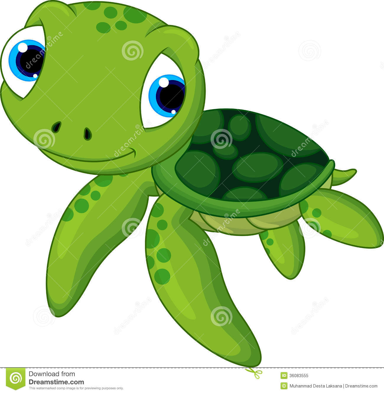 Cute Baby Turtle With A Cute Smile