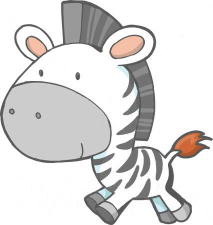 Cute Baby Zebra Clipart