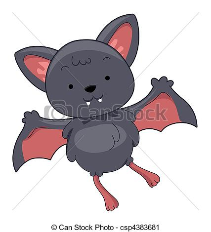 ... Cute Bat with Clipping Path