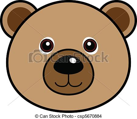 ... Cute Bear Vector - Cute animal faces in (One of 25 of them).