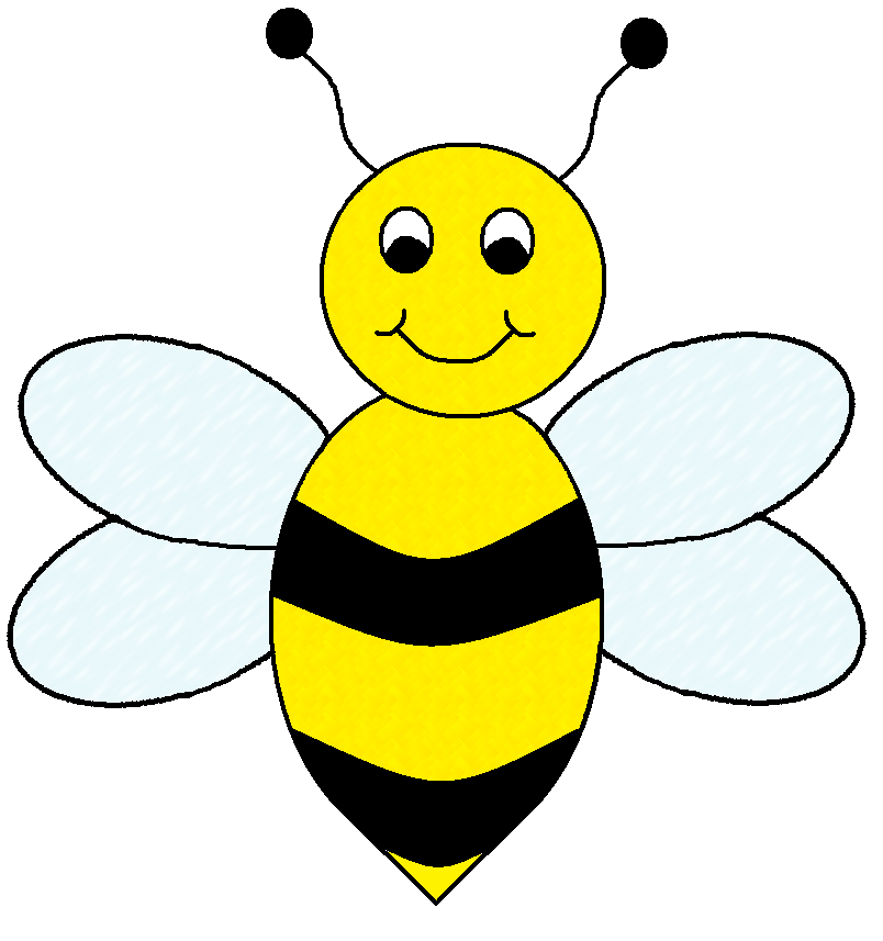 Cute bee clipart free clipart .