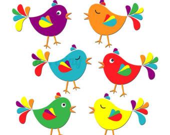 Cute Bird Clipart Digital Clip Ar T Bird-Cute Bird Clipart Digital Clip Ar T Bird Colorful Clipart Spring-14