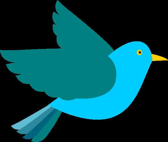 Cute Bird Flying Clipart