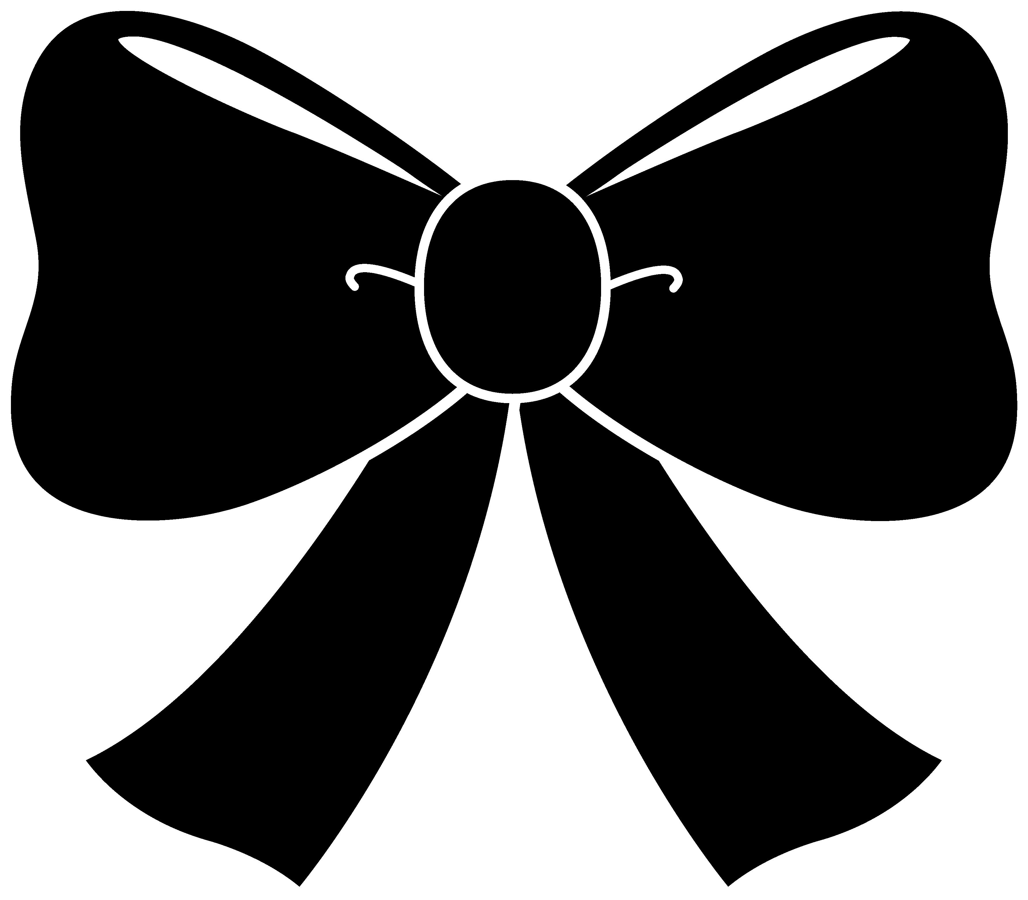 Cute Black Bow Clipart