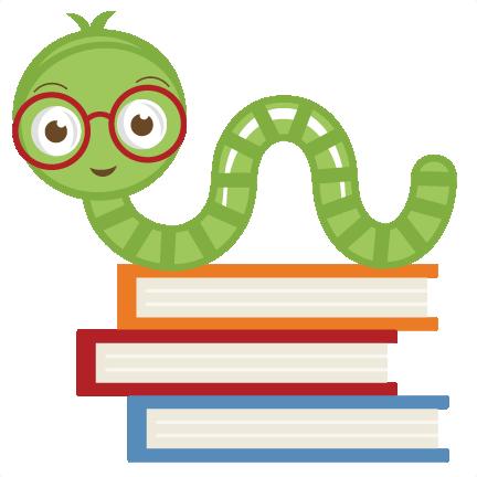 Cute Bookworm Svg Cut File Cute Bookworm Clipart Free Svgs Free Svg