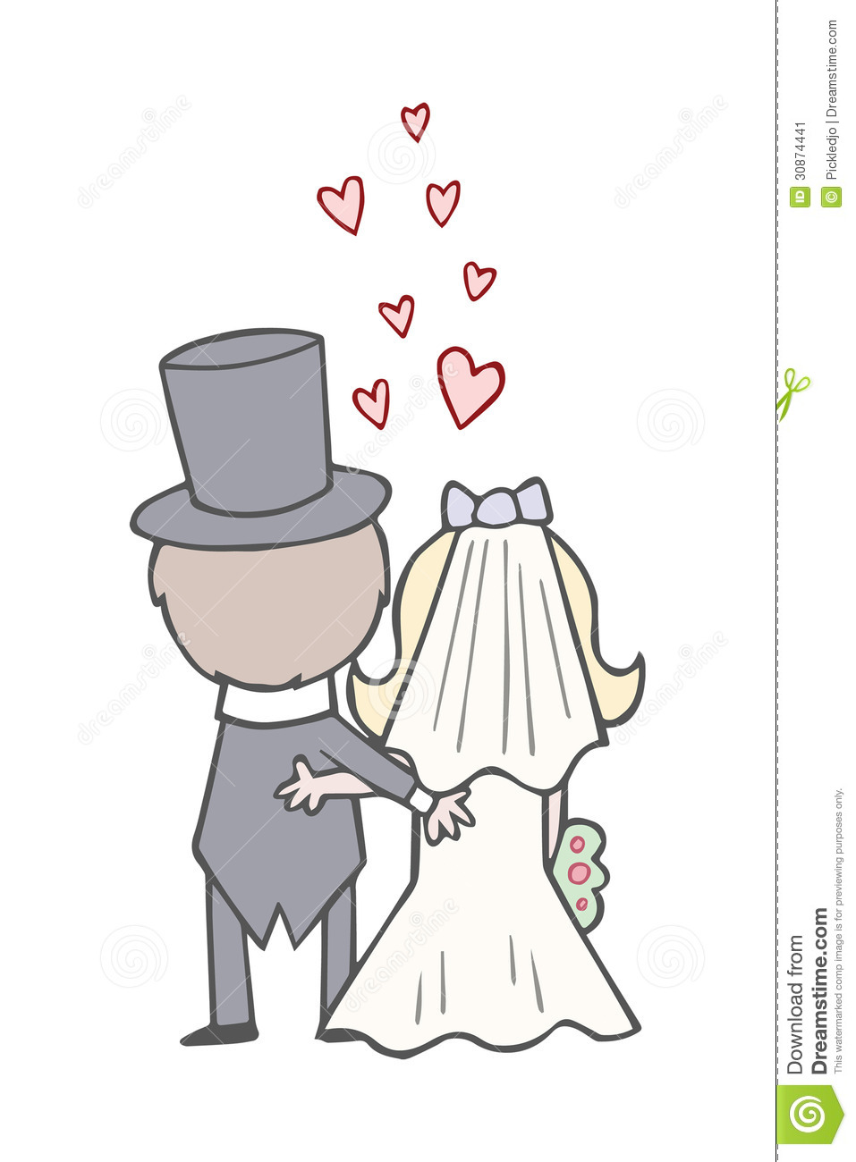 Cute Bride And Groom Clipart # .