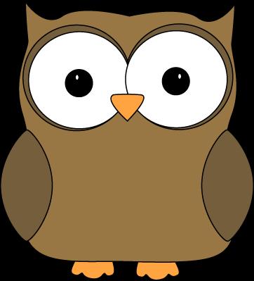 Cute Brown Owl - Clip Art Owls