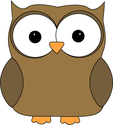 Cute Brown Owl - Owl Pictures Clip Art