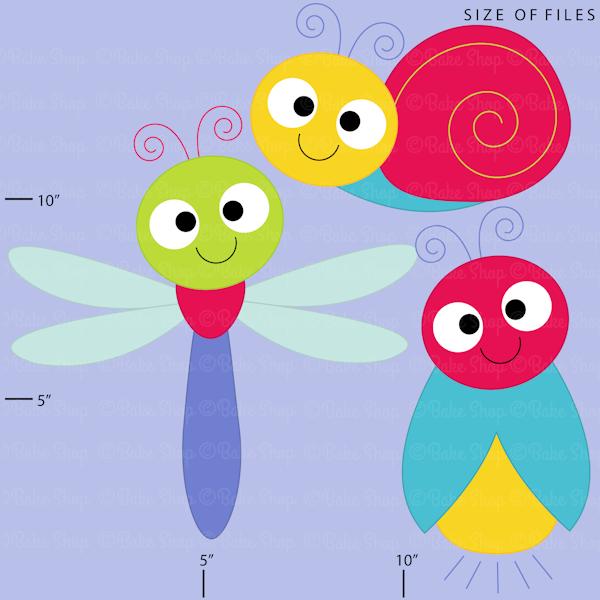 Cute Bugs Clipart - Cliparts - Mygrafico.