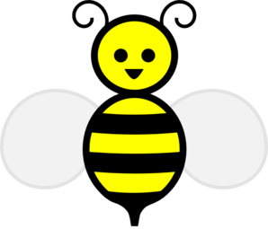 Cute bumble bee clip art free .