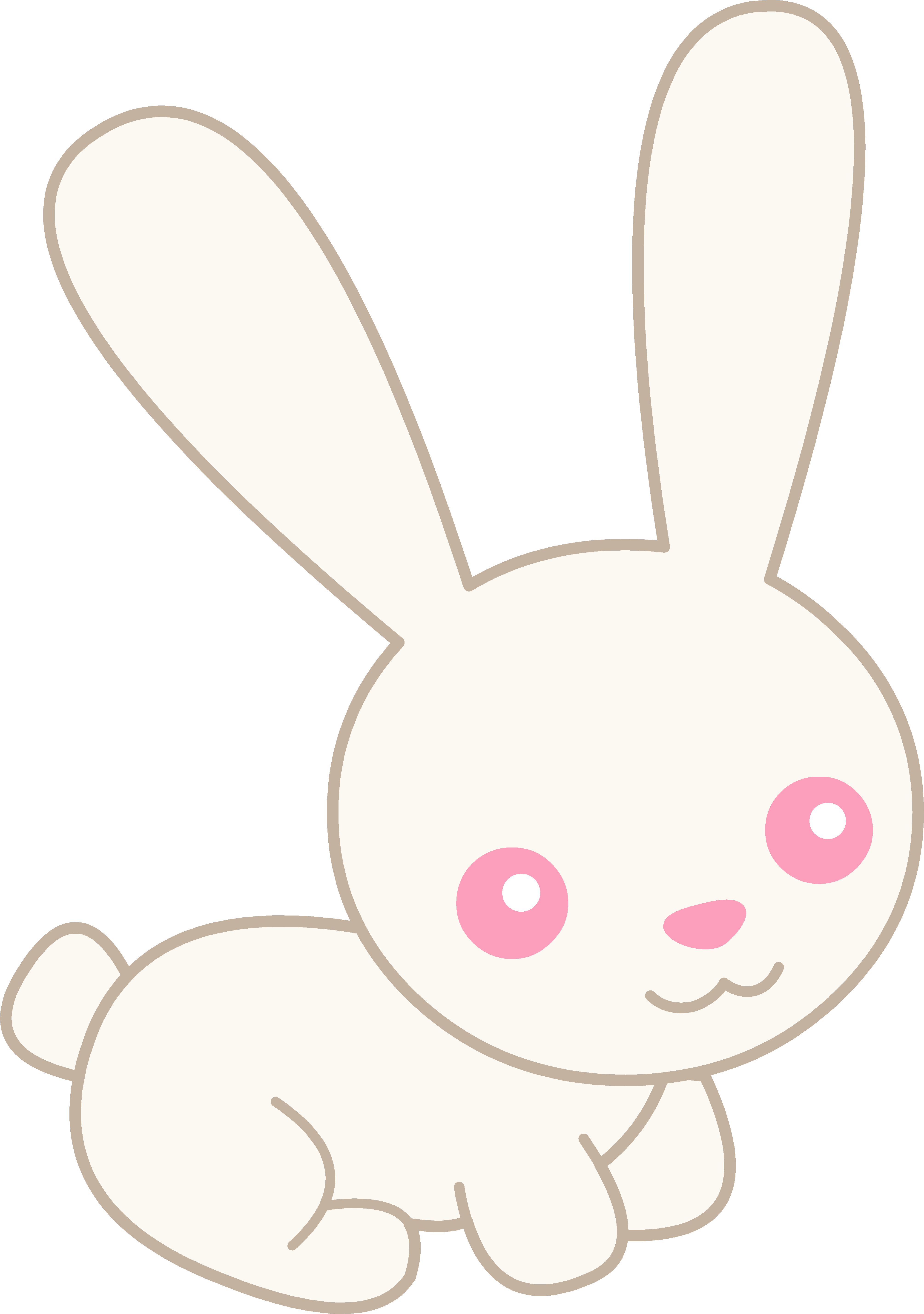 cute baby bunny cartoon .