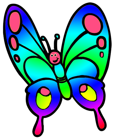 cute butterfly, butterfly clipart for kids