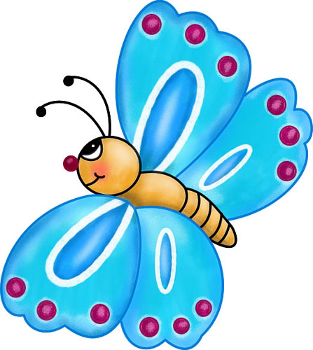 ... Cute butterfly flying clipart ...