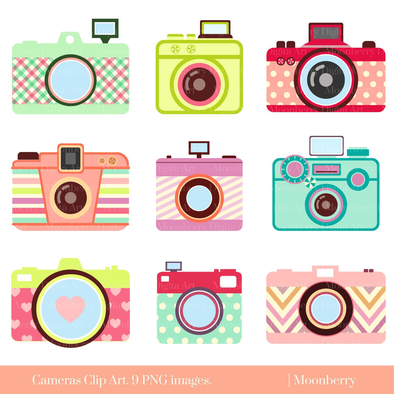 Cute Camera Clip Art U0026quot;CAMERA CL-Cute Camera Clip Art u0026quot;CAMERA CLIP ARTu0026quot; Retro Digital Cameras.Photography ClipArt.Camera elements.Colorful Cameras.Png Cameras.Commercial Use-11