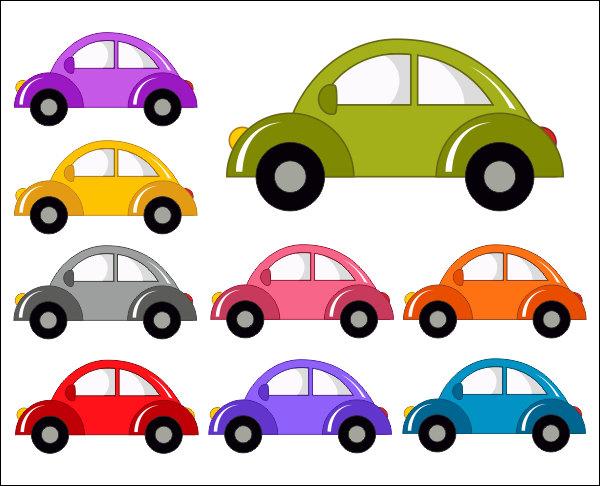 Cute Cars Digital Clip Art, .