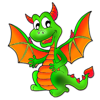 Cute Cartoon Dragon Clip Art