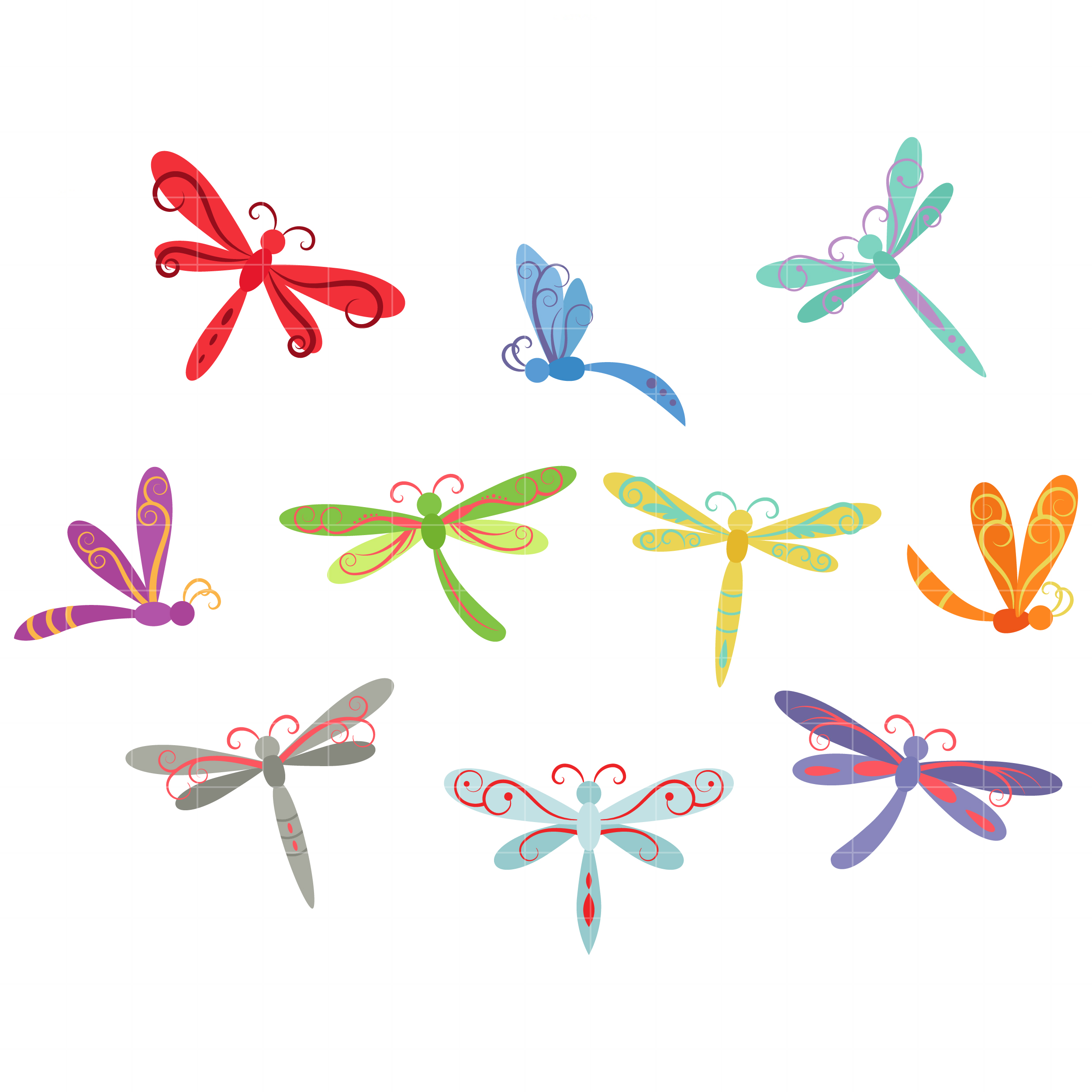 Cute cartoon dragonfly clipart free clip art image image. Whimsical Clip Art