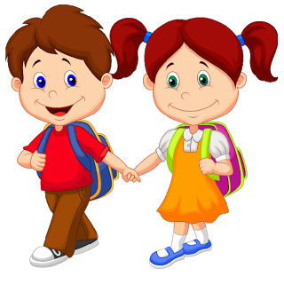 Cute Cartoon Funny School Children Clip Art Images