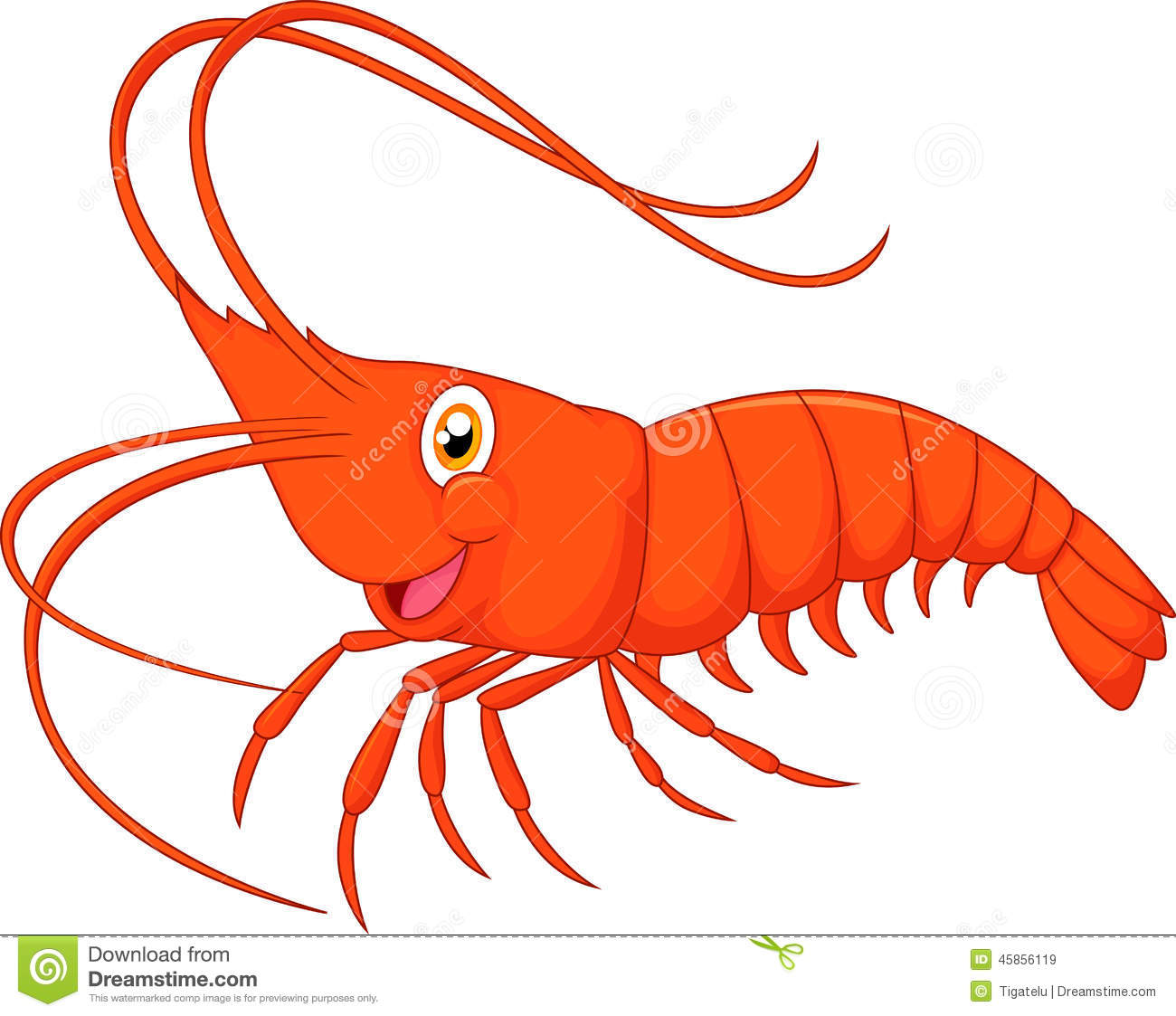 Cute Cartoon Shrimp Stock Vector Image 4-Cute Cartoon Shrimp Stock Vector Image 45856119-4
