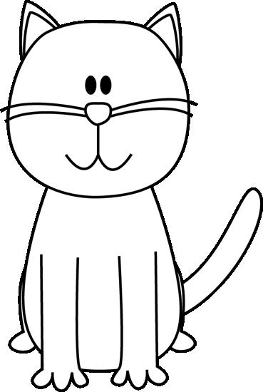 Cute Cat Clip Art Black And Whitechild Of Artemis
