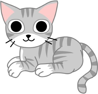 Cute cat clipart free clipart image