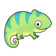 Cute chameleon clipart - ClipartFest