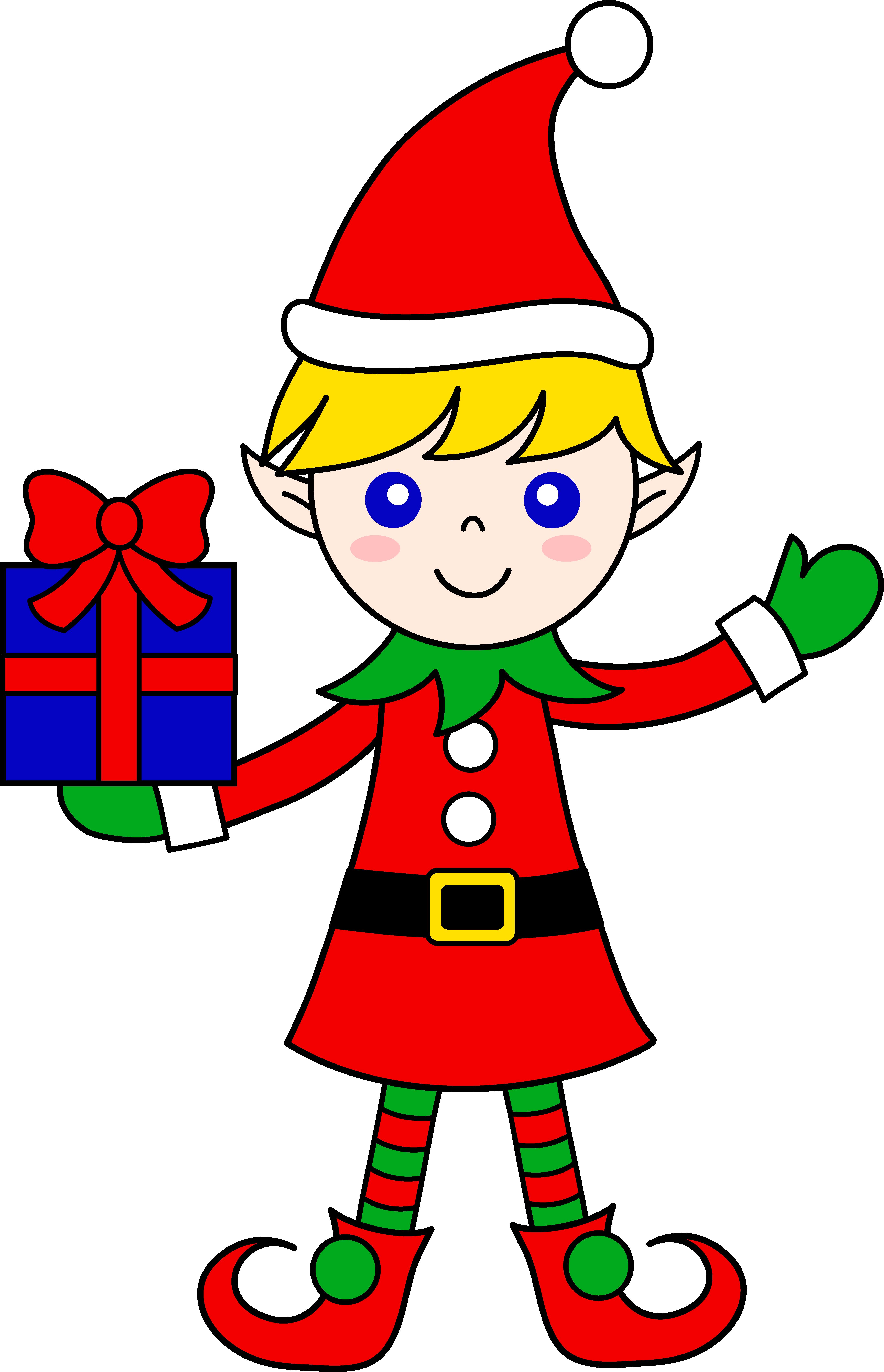 Cute Christmas Elf Clip Art