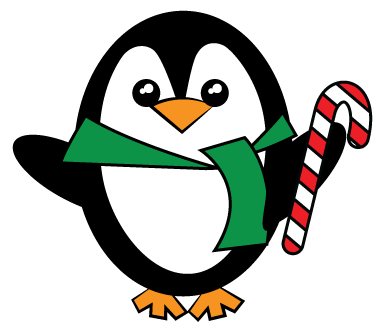 Cute christmas penguin clipart kid