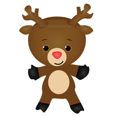 Cute Christmas Reindeer Clipart 1 00 Cute Christmas Reindeer Clipart