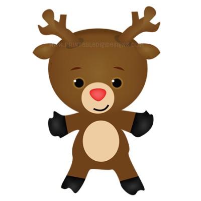 Cute Christmas Reindeer Clipart 1 00 Cute Christmas Reindeer Clipart