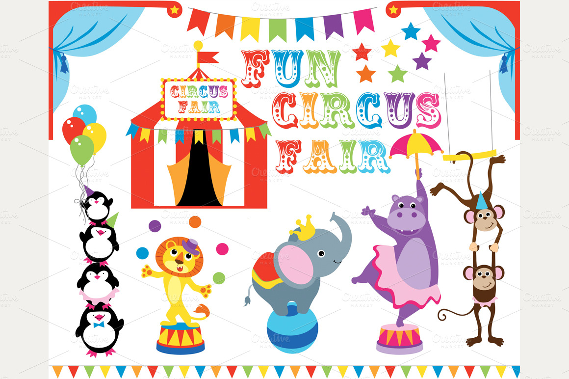 cute circus animals