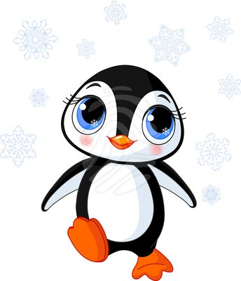 Cute Clip Art Cute Winter Penguin Beauty Clipart 53257653 Jpg