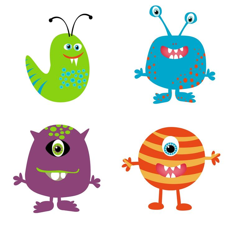 Cute clip art monsters clipart .