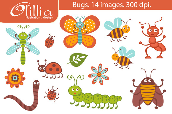 Cute Clipart Bug. Bugs