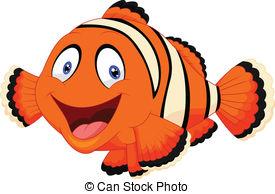 ... Cute clown fish cartoon - Vector illustration of Cute clown.