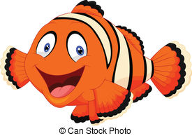 ... Cute Clown Fish Cartoon - Vector Ill-... Cute clown fish cartoon - Vector illustration of Cute clown.-15