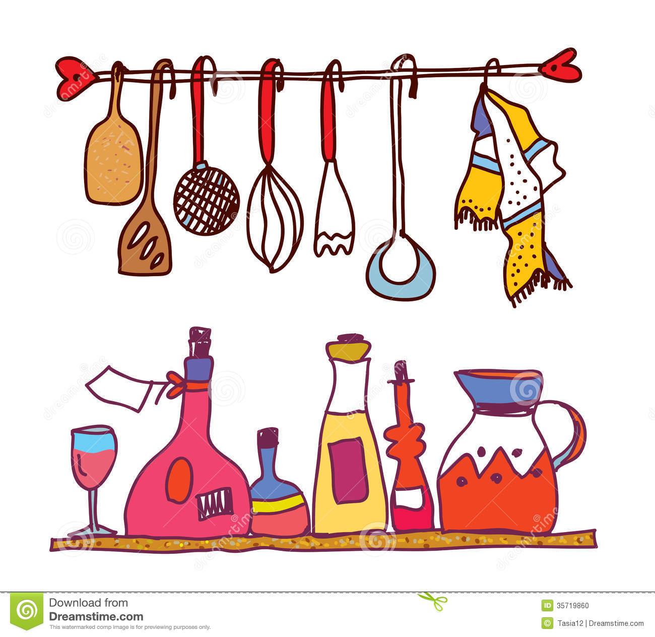 cute cooking utensils clipart