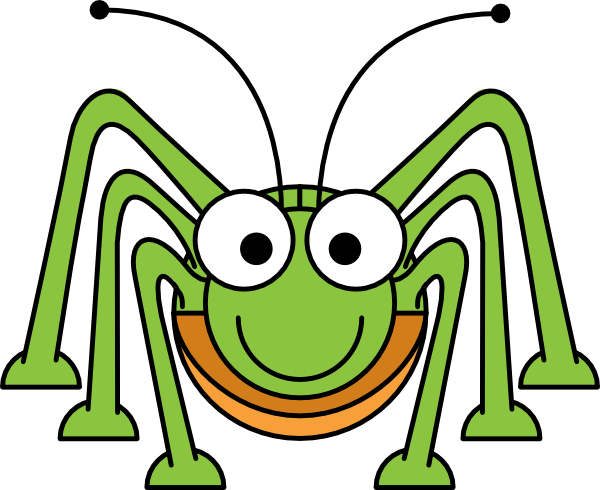 Cute cricket insect clipart 5