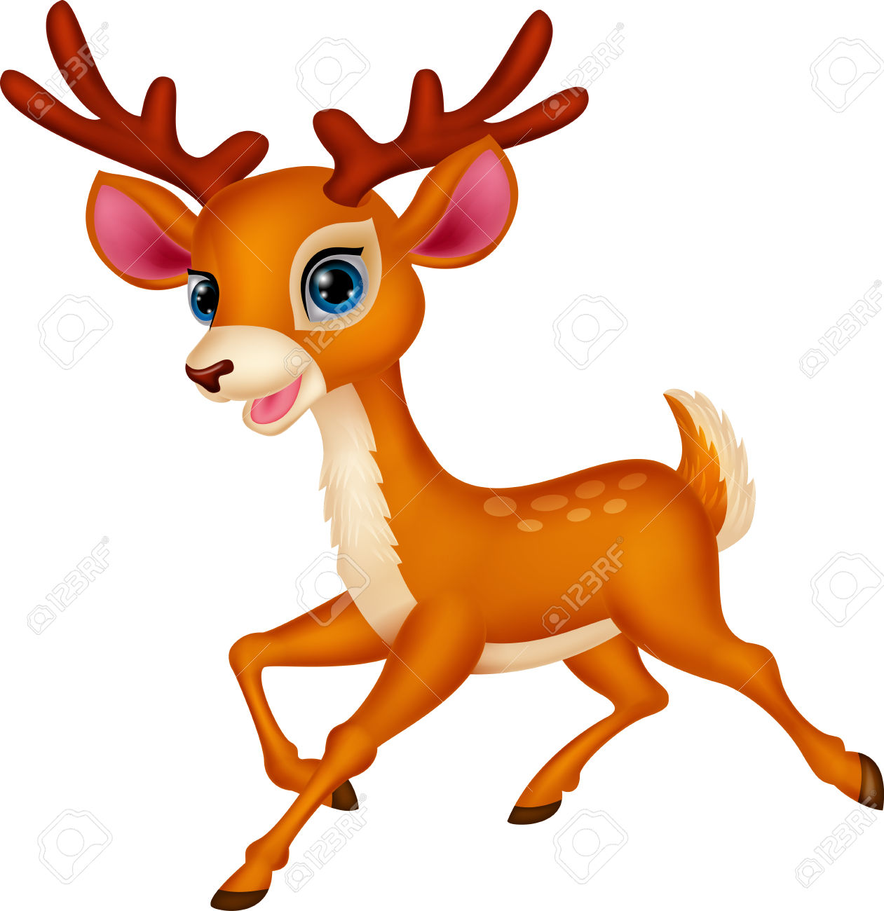 Deer running. Clipart clipartlook