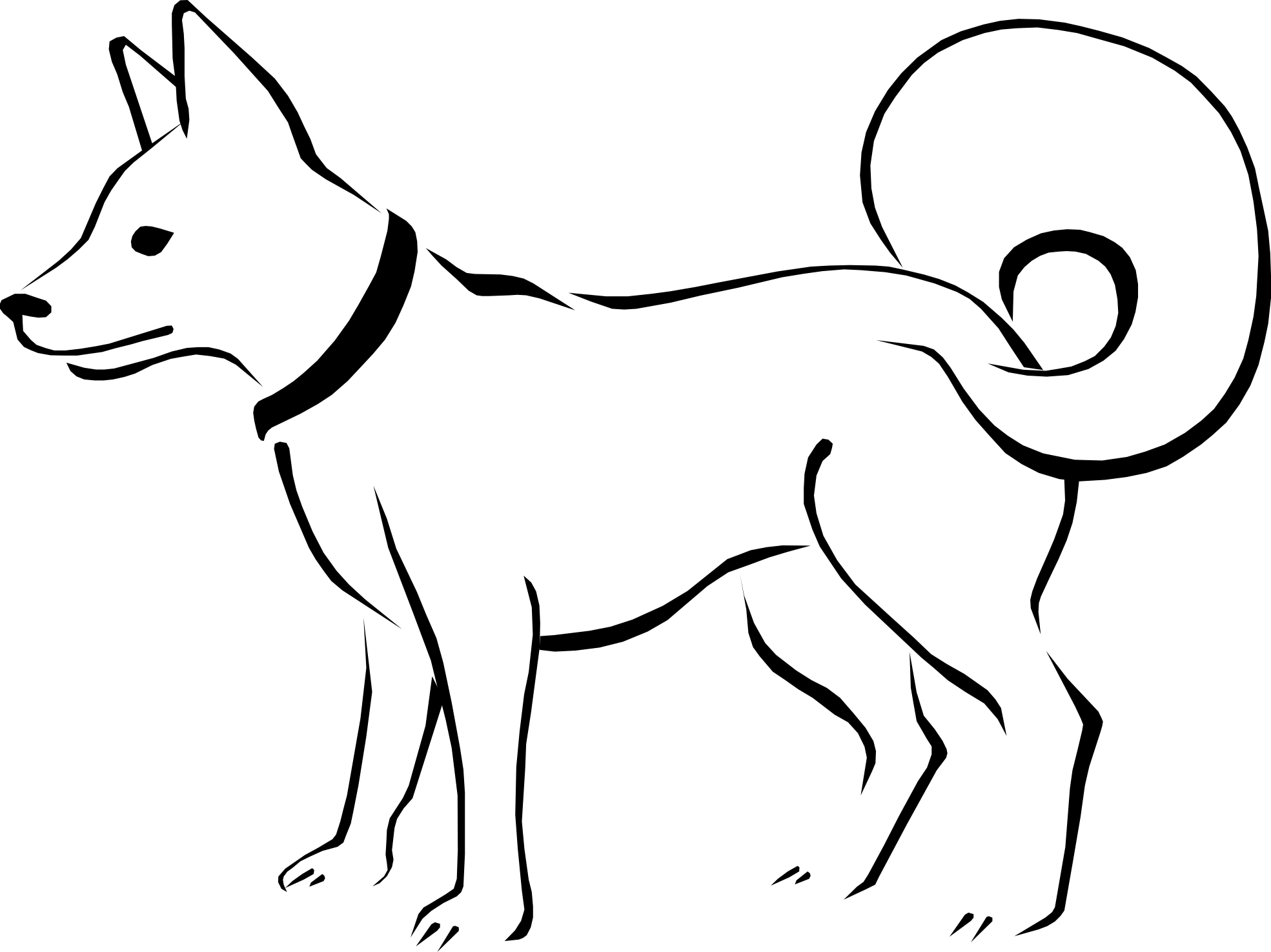 Cute Dog Clipart Black And White Eimpgzkin Png