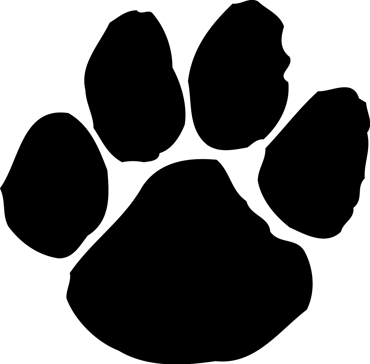Cute dog paw print clipart - .