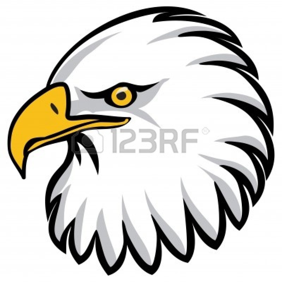 Cute Eagle Clipart Black And ..