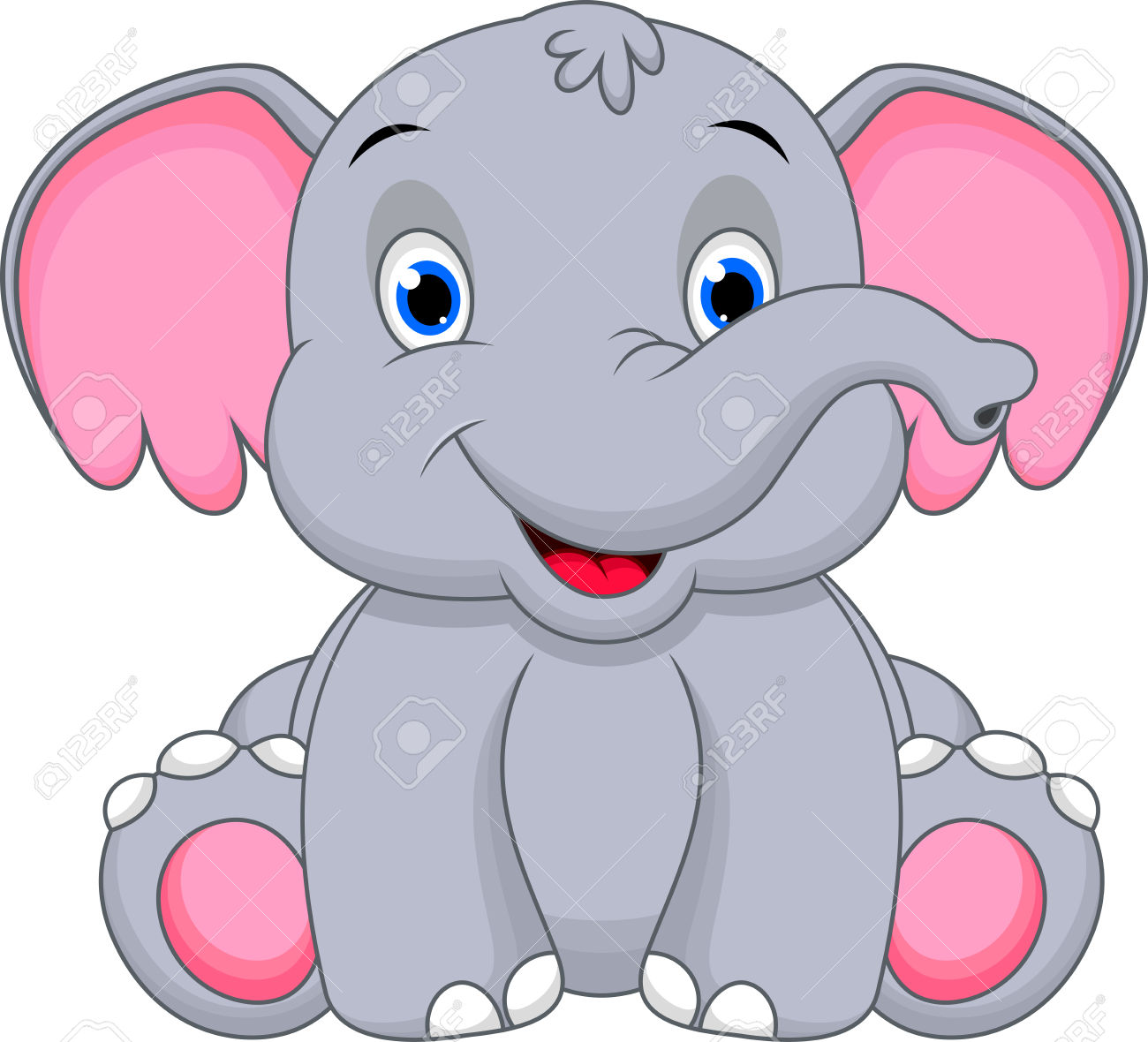 cute elephant: Cute baby elephant cartoon