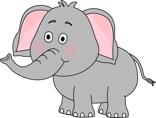 Cute Elephant - Elephants Clip Art