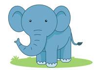cute elephant. Size: 43 Kb