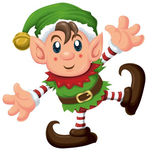 Cute Elf PNG Clipart, Christmas PNG / Clipart - transparent PNG pictures and vector rasterized images.