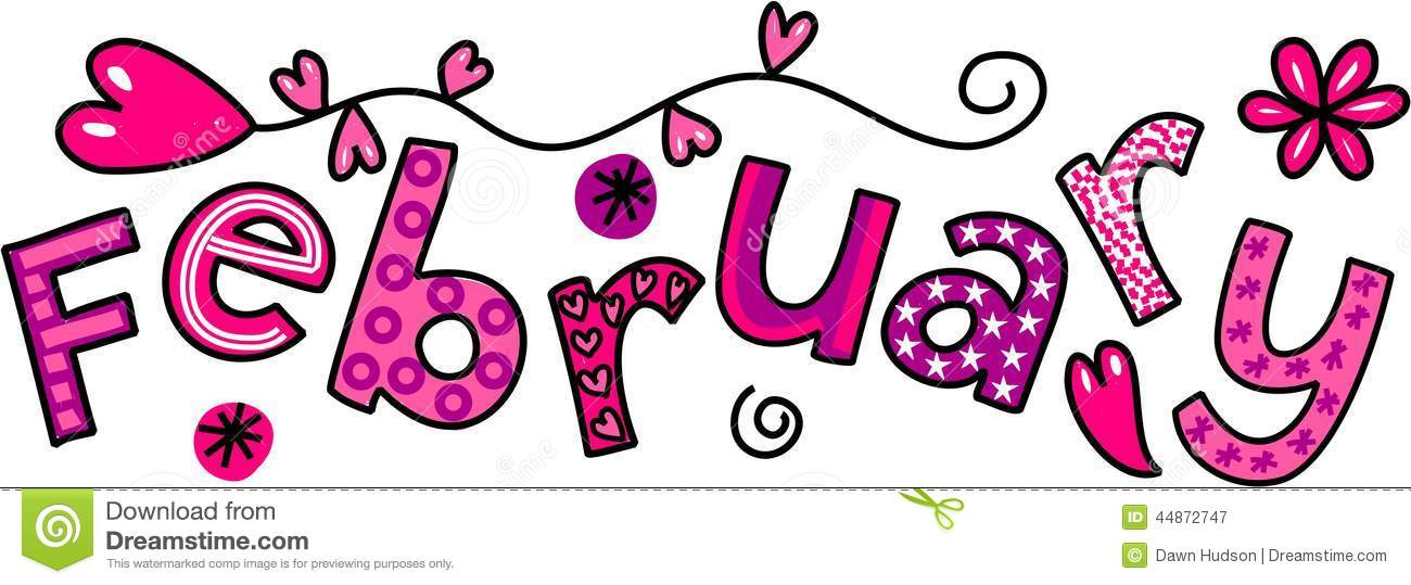 Cute February Clipart. For The Month Of -Cute February Clipart. For The Month Of February-1