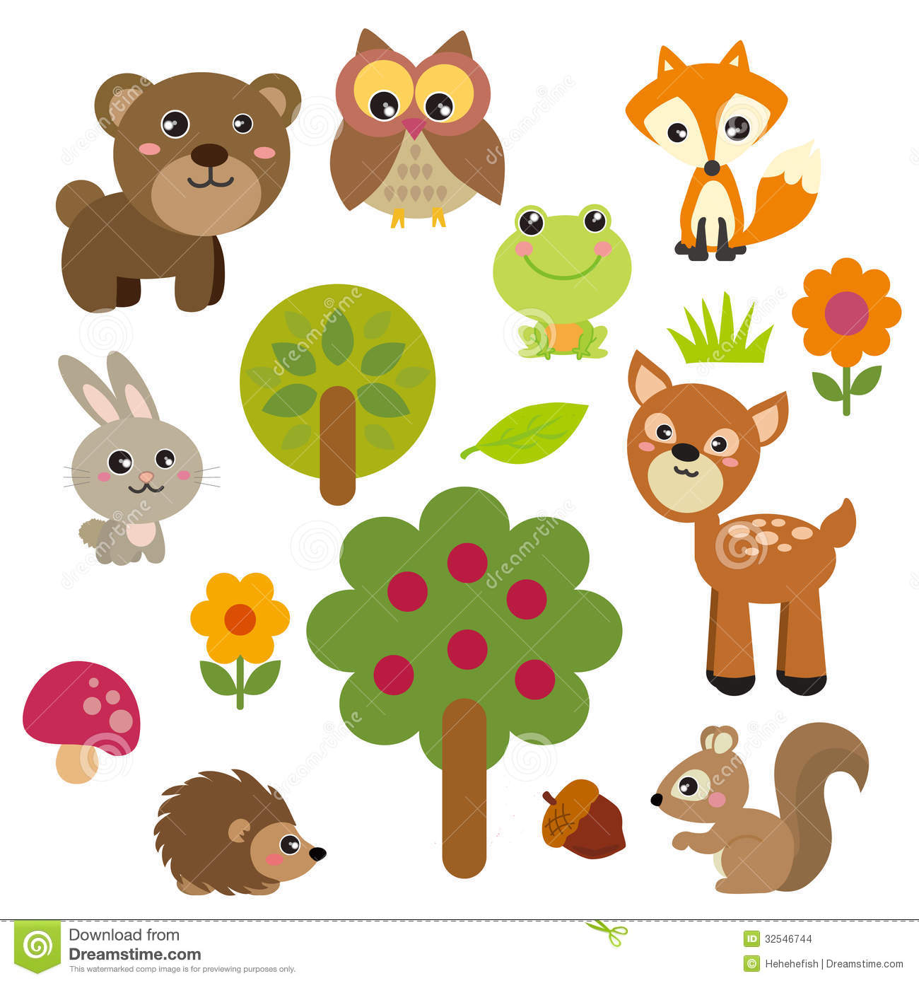 Cute Forest Animals Stock Ima - Forest Animals Clipart