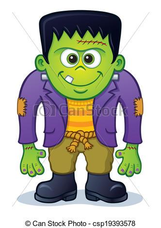 ... Cute Frankenstein Monster - Cartoon illustration of a cute.